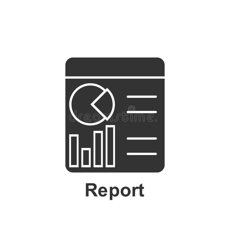 Online marketing, report icon. Element of online marketing icon. Premium quality graphic design icon. Signs and symbols collection royalty free illustration