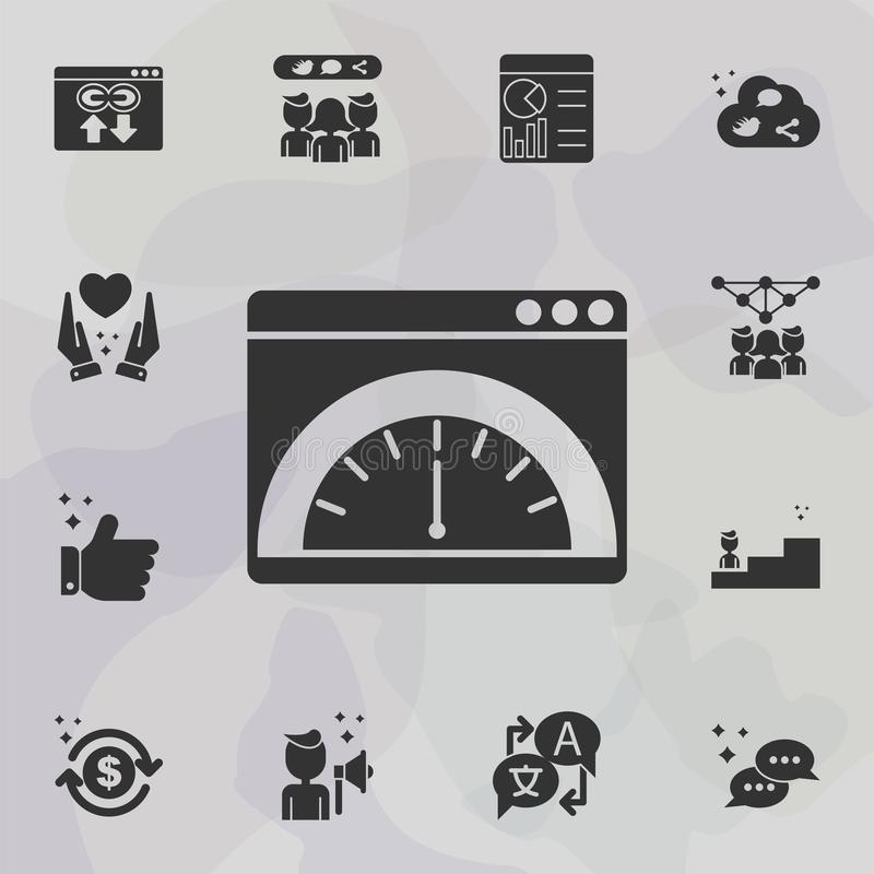 Online marketing, speedometer icon. Universal set of online marketing for website design and development, app development royalty free illustration