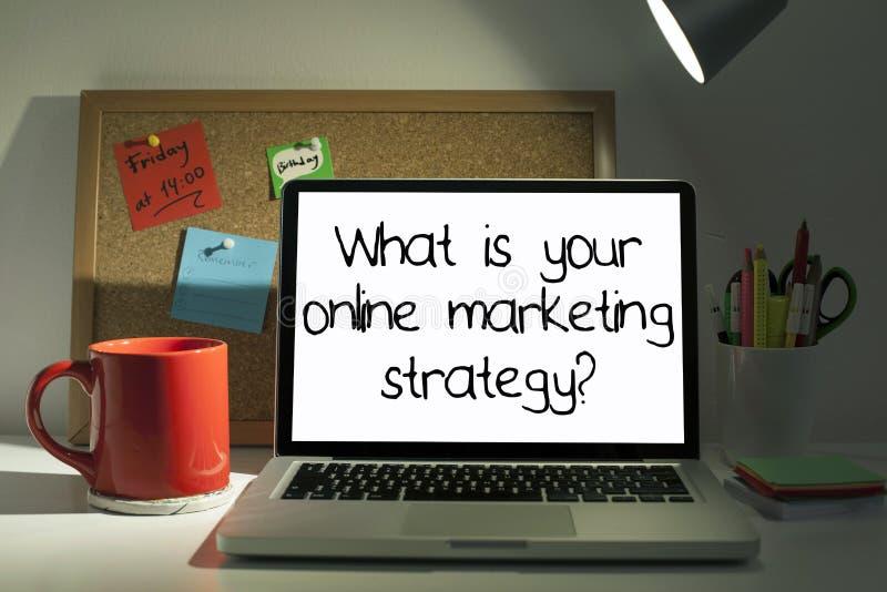 Online Marketing Strategie royalty-vrije stock foto's