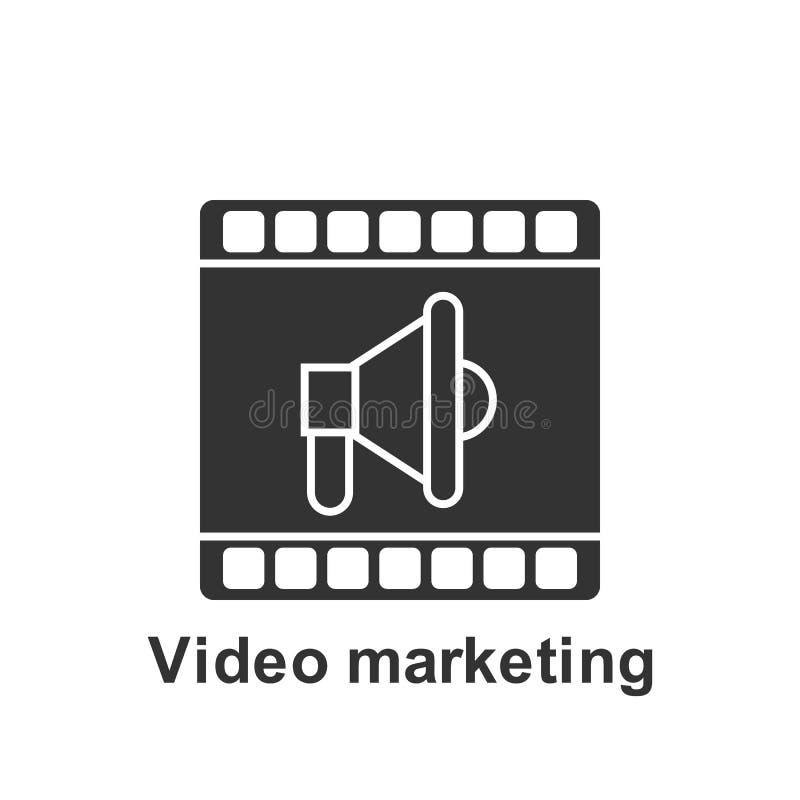 Online marketing, wideo marketingowa ikona Element online marketingowa ikona Premii ilo?ci graficznego projekta ikona podpisz sym ilustracji