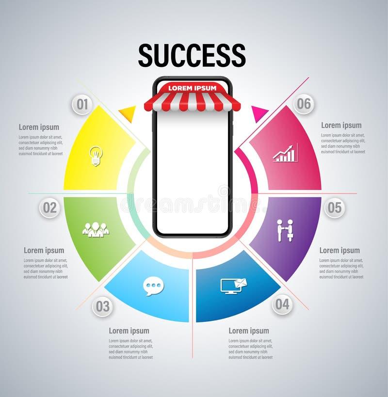 Online marketingowy pojęcie ilustracji