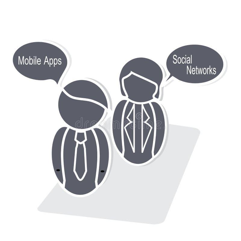 Online-marknadsföring vektor illustrationer