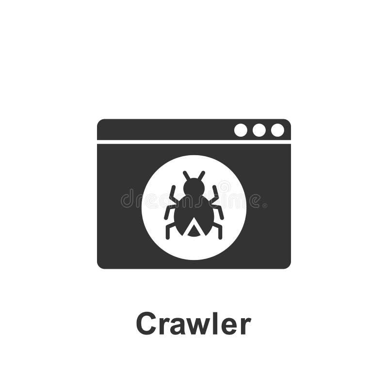 Online-marknadsf?ring, crawlsimmaresymbol Best?ndsdel av den online-marknadsf?ra symbolen H?gv?rdig kvalitets- symbol f?r grafisk stock illustrationer