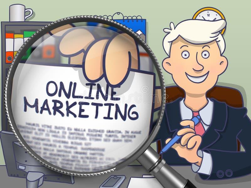 Download Online-marknadsföring Till Och Med Förstoringsapparaten Klotterbegrepp Stock Illustrationer - Illustration av affärsman, folk: 78728847