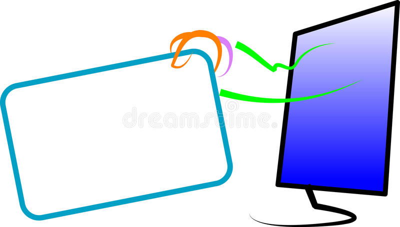 Online mededeling royalty-vrije illustratie