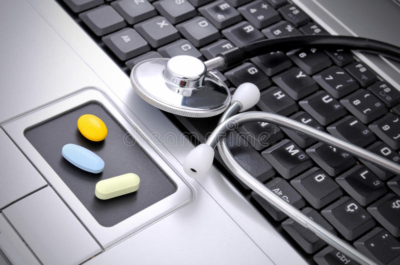 Online medicine royalty free stock images