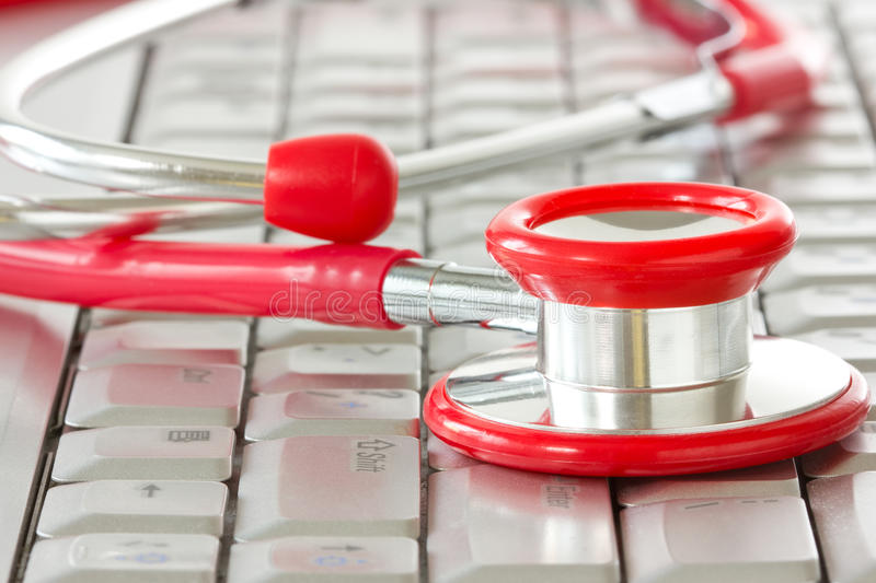 Online medicine and IT support royalty free stock images