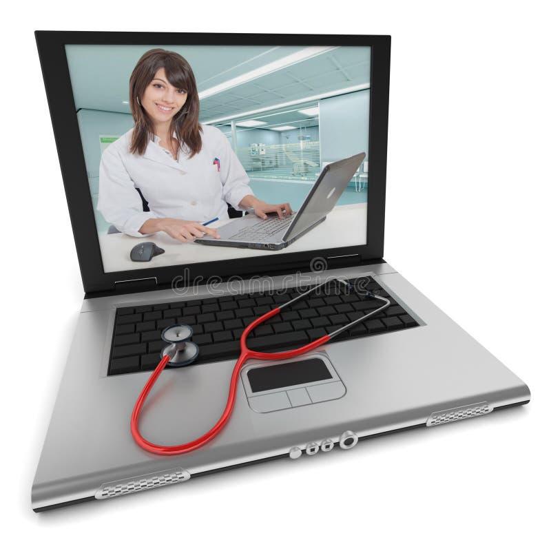 Online-medicinsk rådgivning royaltyfri foto