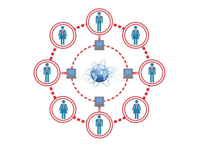 Online Medisch Personeel voor Globale Aansluting royalty-vrije illustratie