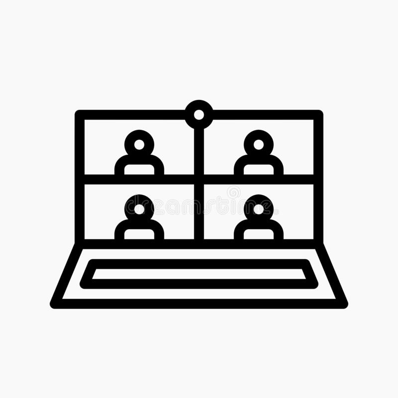 Free Online Meeting Icon Vector. Online Learning Symbol Royalty Free Stock Photos - 217240648