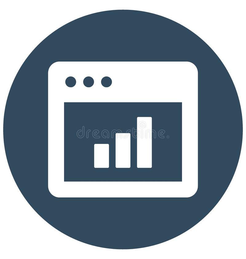 Online met betrekking tot Webbrowservensters en volledig editable grafiekvector royalty-vrije illustratie