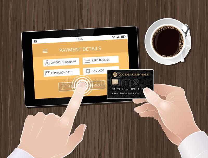 Online Mobile Payment vector illustration