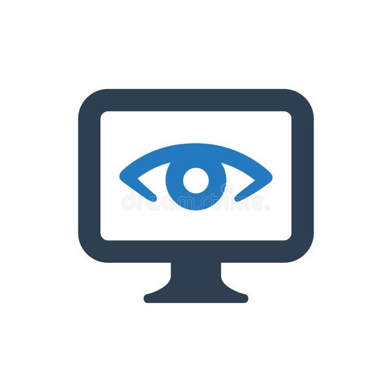 Online monitorowanie ikona ilustracja wektor
