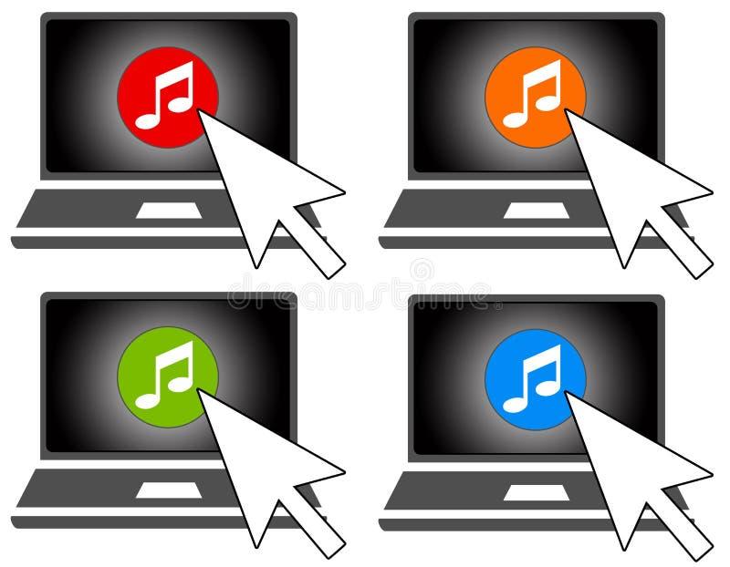Online muziek royalty-vrije illustratie