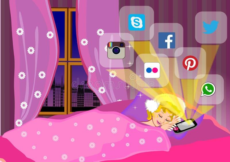 Online na marzyć ilustracji