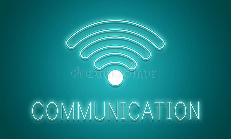 Online Network Wifi COmmunication Icon Concept. Online Network Wifi Communication Icon royalty free stock image