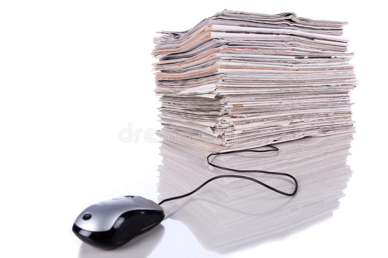 Download Online news stock image. Image of heap, headline, folded - 13810685