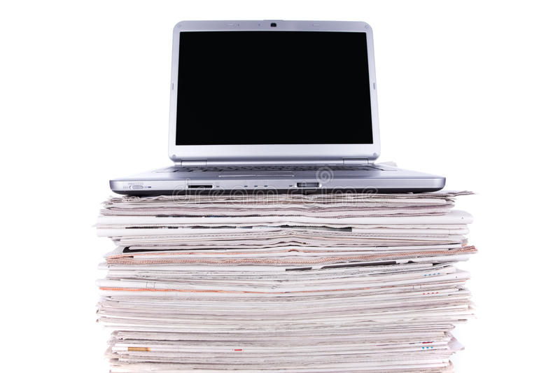 Download Online News stock photo. Image of issues, laptop, journal - 13822370