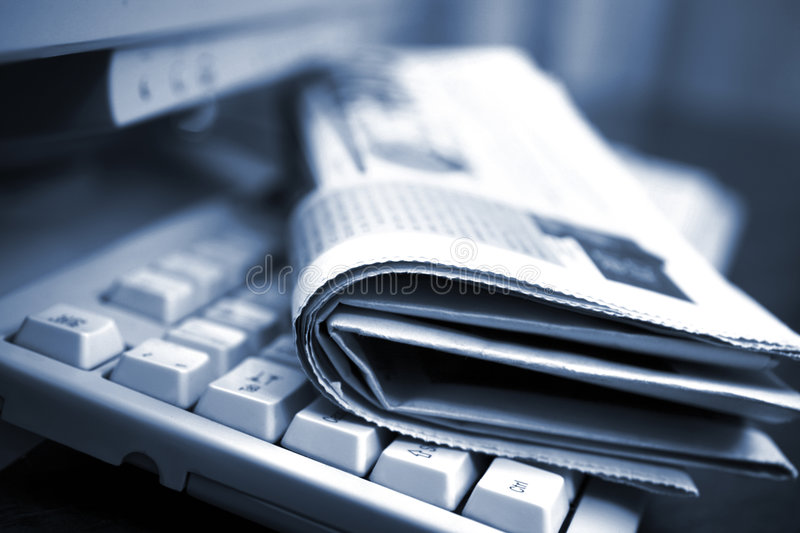 Online news royalty free stock images