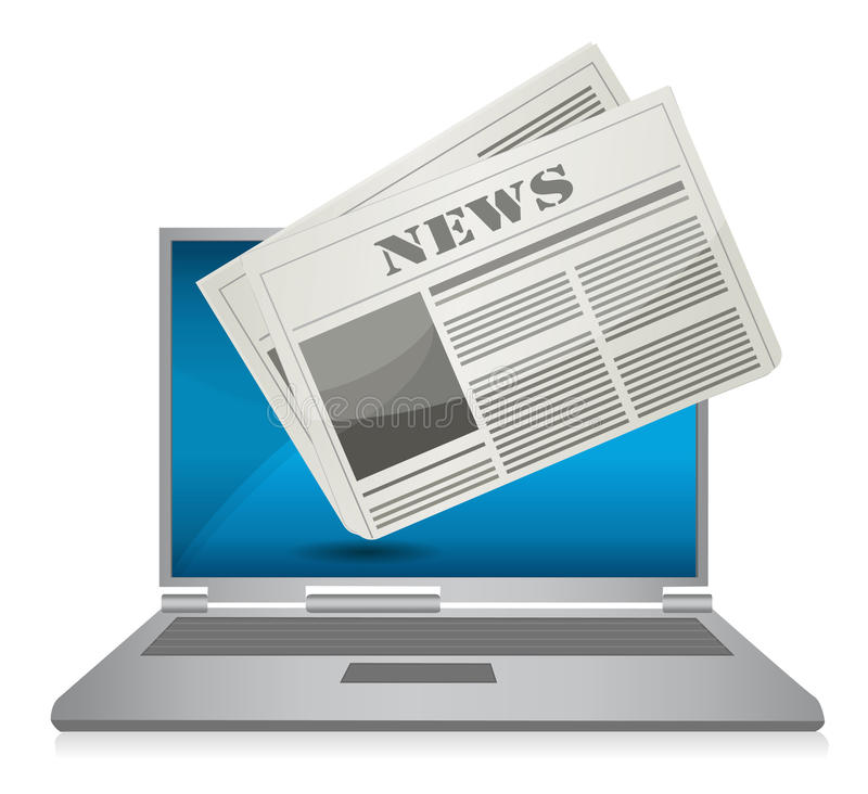 Online News Concept Illustration Royalty Free Stock Images