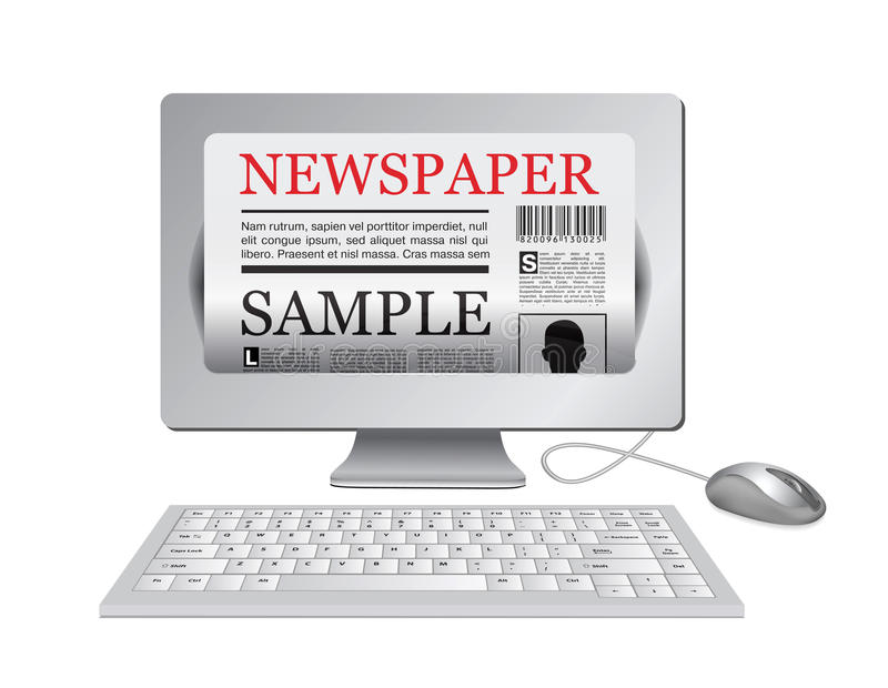 Download Online Newspaper.Computer And News Website Royalty Free Stock Photo - Image: 18282885
