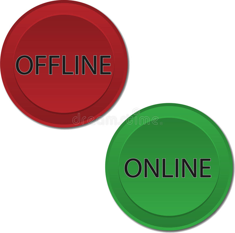 Download Online Offline buttons stock vector. Image of retail - 33004149