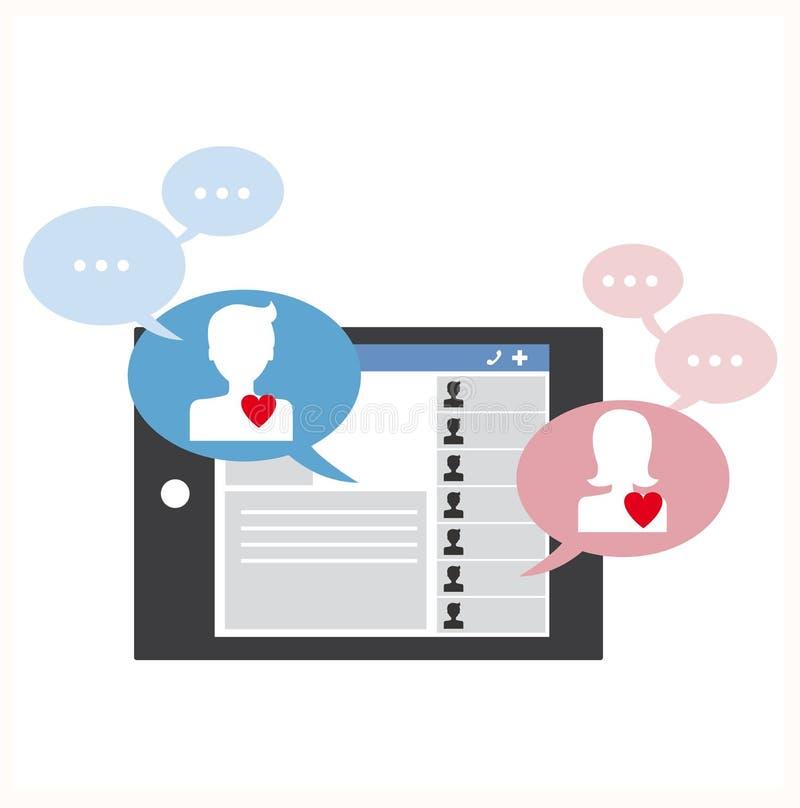 Online ogólnospołeczny gawędzenie ilustracji