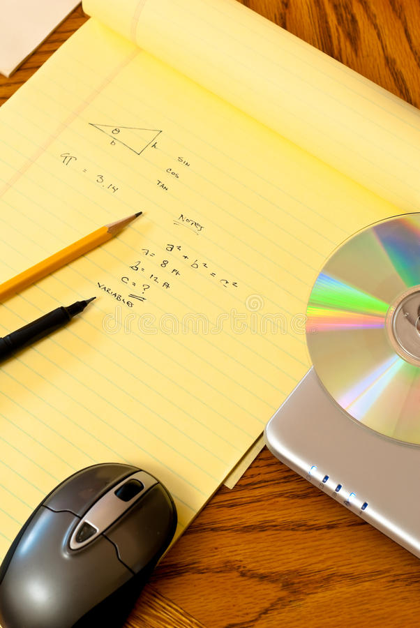 Online Onderwijs Math stock fotografie