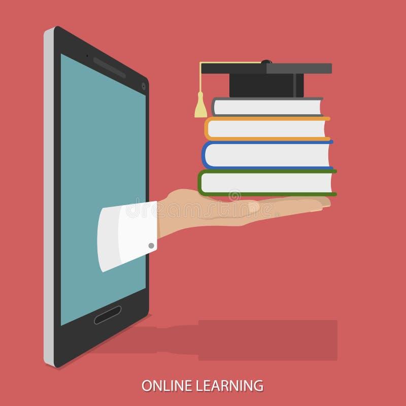 Online Onderwijs Vlak Isometrisch Vectorconcept stock illustratie
