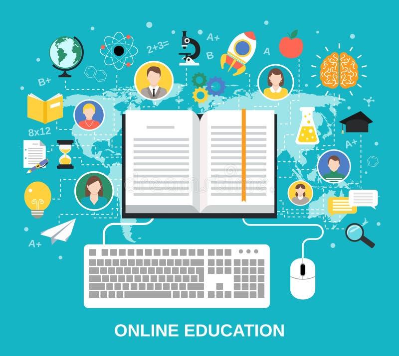 Online onderwijsconcept vector illustratie