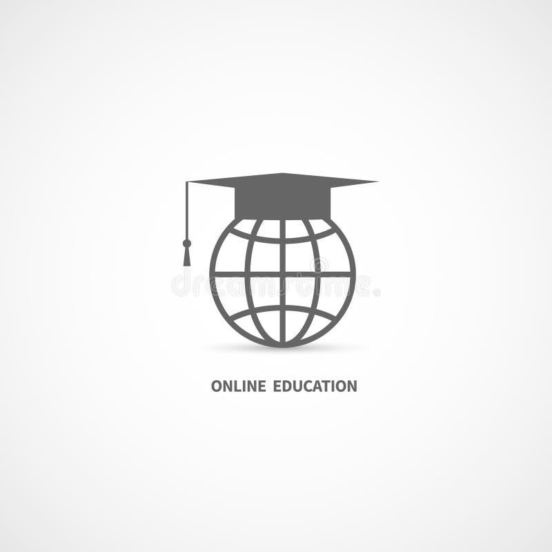 Online onderwijspictogram royalty-vrije illustratie