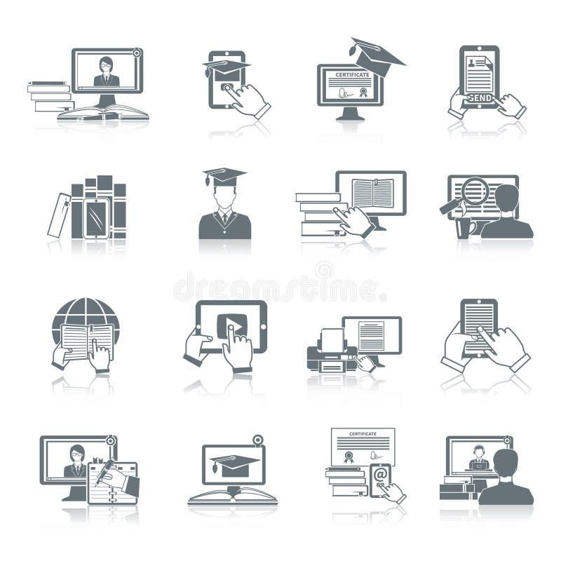 Online onderwijspictogram vector illustratie