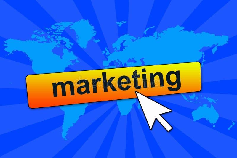 Online op de markt brengend stock illustratie