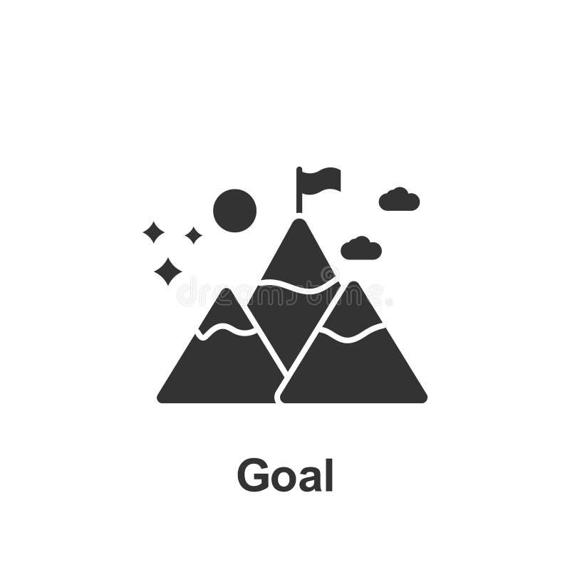 Online op de markt brengend, doelpictogram Element van online marketing pictogram Grafisch het ontwerppictogram van de premiekwal stock illustratie