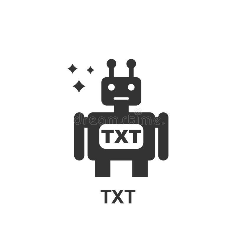 Online op de markt brengend, TXT-pictogram Element van online marketing pictogram Grafisch het ontwerppictogram van de premiekwal royalty-vrije illustratie