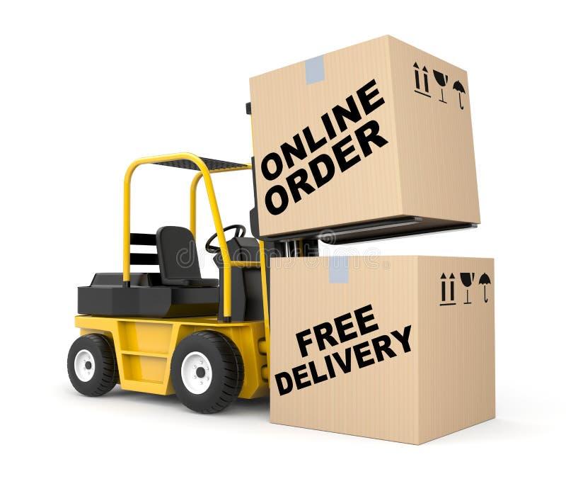 Online orde vector illustratie