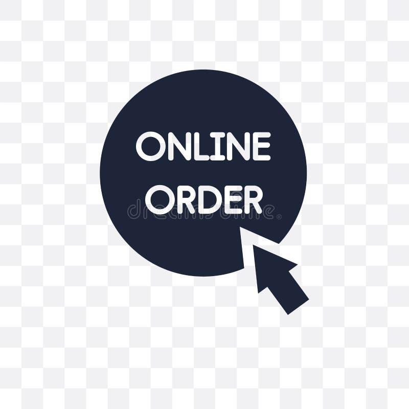 Online orde transparant pictogram Het online ontwerp van het ordesymbool van E stock illustratie