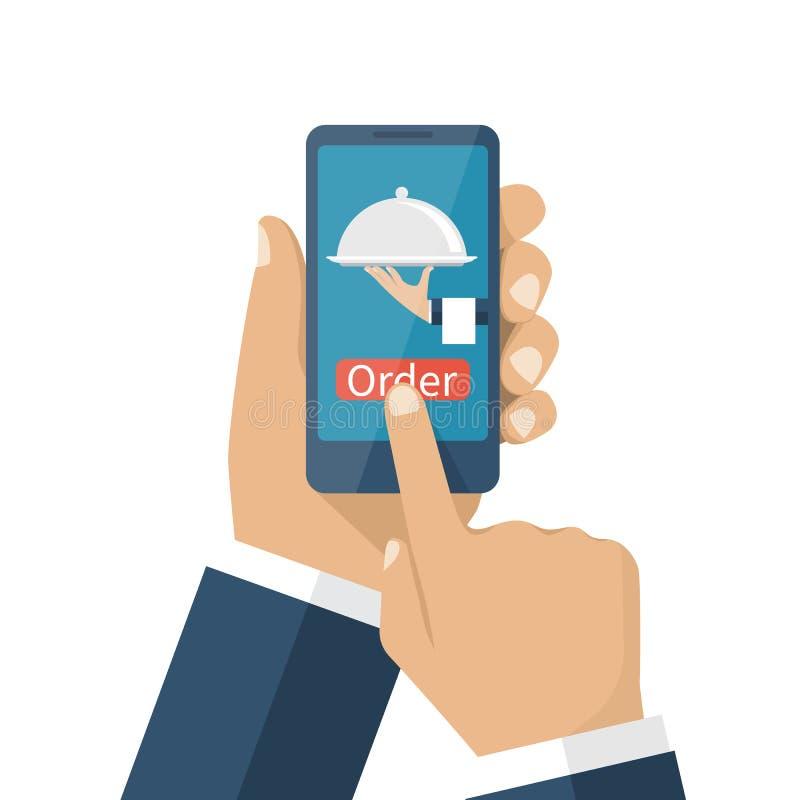 Online ordevoedsel royalty-vrije illustratie