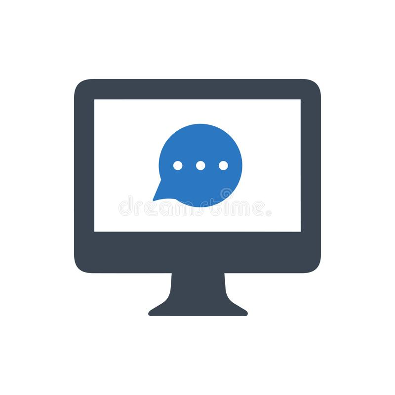 Online Ordynacyjna ikona ilustracja wektor