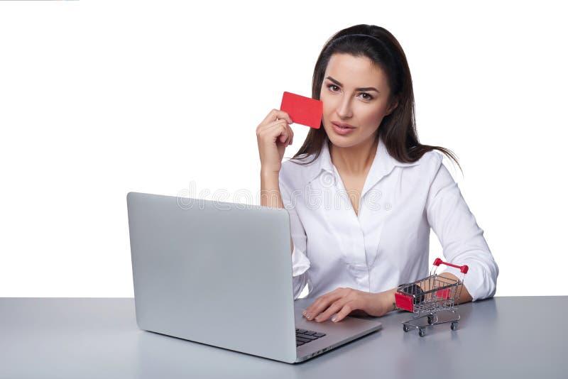 Online płatniczy zakupy pojęcie obraz stock