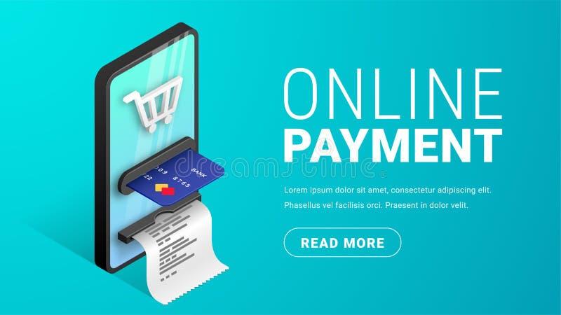 Online payment concept banner horizontal stock illustration