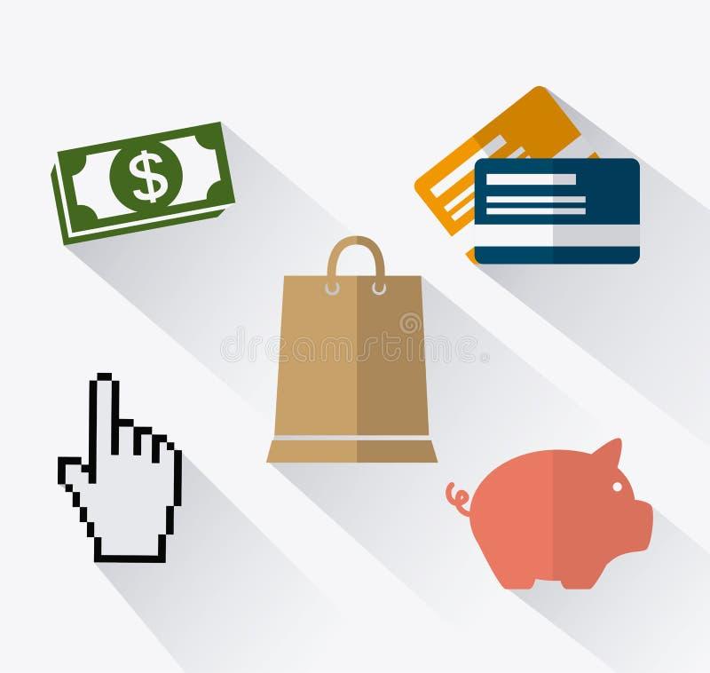 Online payments design. Online payments design over white background, illustration stock illustration
