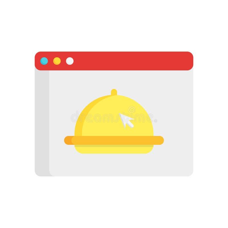 Online pictogram vectordieteken en symbool op witte achtergrond wordt geïsoleerd stock illustratie