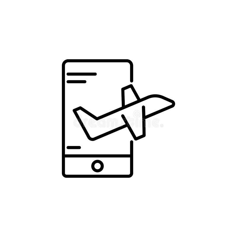 online podróży ikona Element anta starzenie się ikona dla mobilnych pojęcia i sieci apps Doodle podróży stylowa online ikona może royalty ilustracja