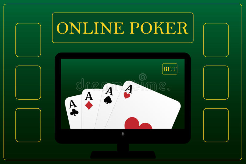 Download Online poker concept stock vector. Image of graphic, aces - 17839223