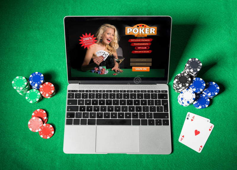 Online poker royalty free stock images