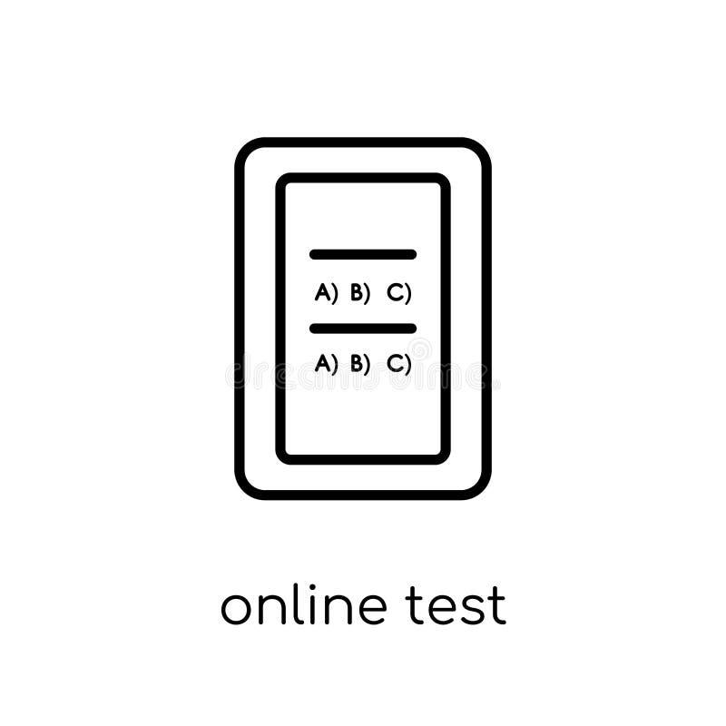 Online-provsymbol  stock illustrationer