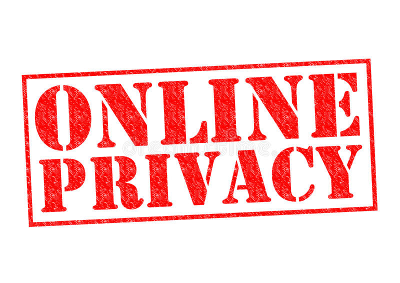 ONLINE prywatność ilustracji