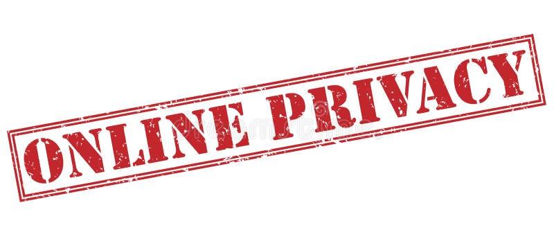 Online prywatności czerwieni znaczek royalty ilustracja