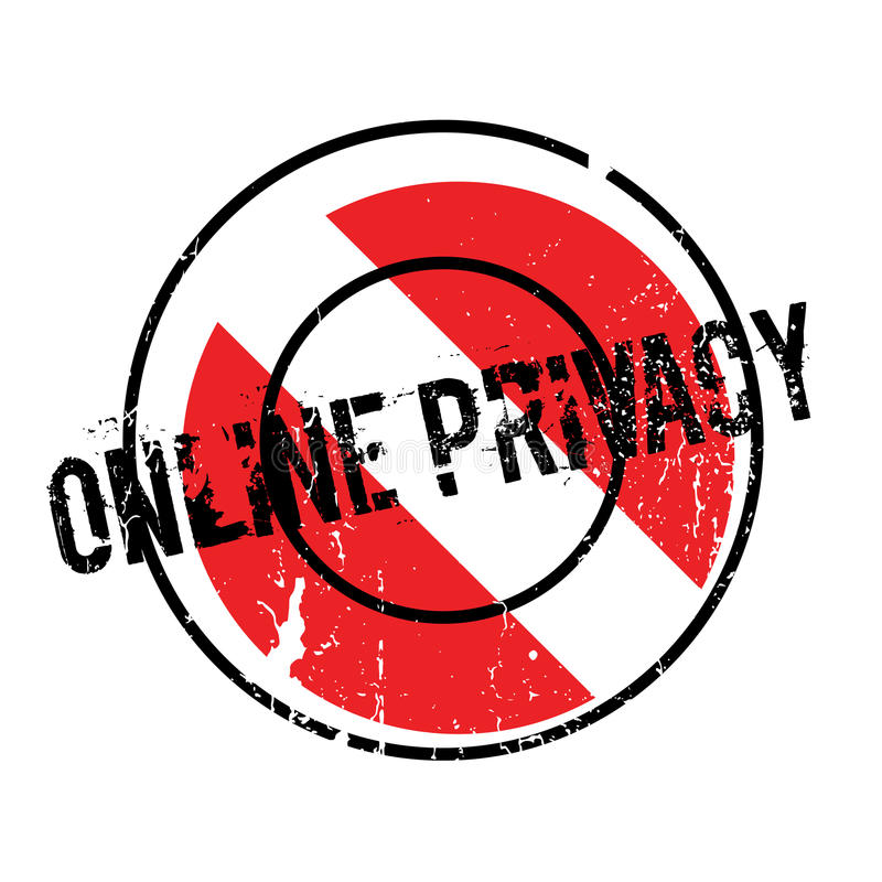 Online prywatności pieczątka ilustracji